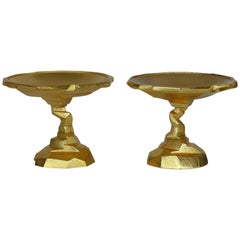 Pair of Gold Michael Aram Rock Compotes