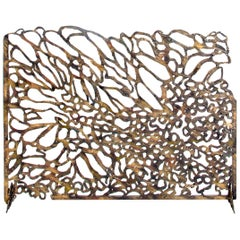 Bespoke Hand-Wrought Iron Reef Fireplace Screen