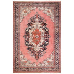 Large Luxurious Vintage Persian Silk Heriz Rug