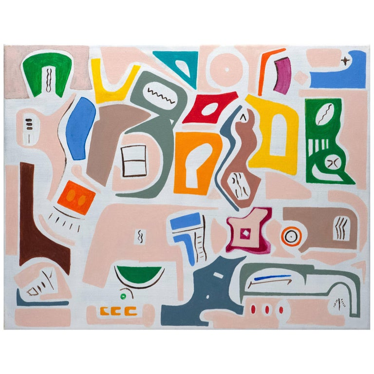 Elizabeth Freire Abstract Modern Archetype Forms Painting