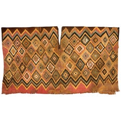 Pre-Columbian Multi-Color Diamond Shaped Nazca Unku Textile, Peru, 200-400 AD