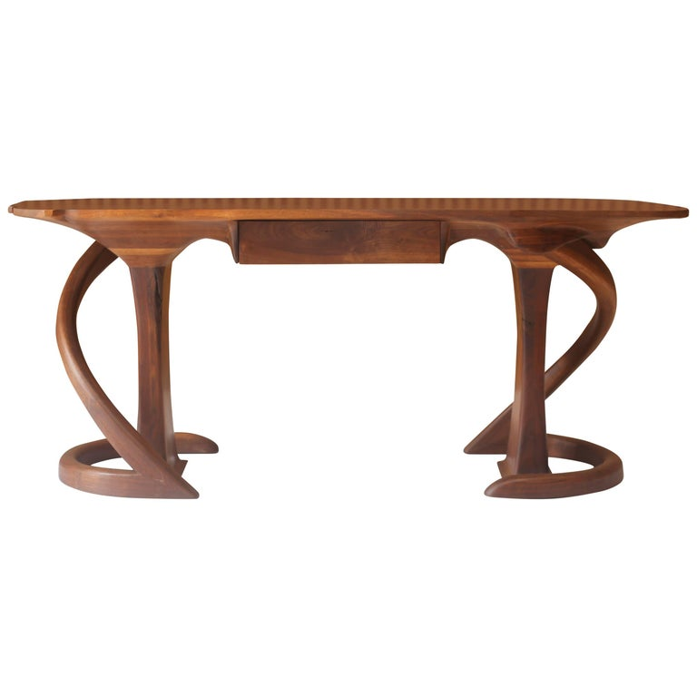 Wendell Castle American Studio Craft Walnut Console with Drawer