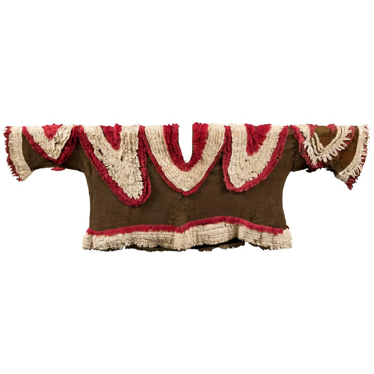 Extremely Rare Pre-Columbian Chimu Gauze Poncho Textile, Peru, 1000-1450 AD For Sale