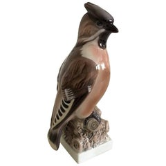 Lyngby Figurine of Bird Silkehale Waxwing #6