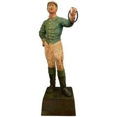 Cast Iron English Lawn Jockey Hitching Post Cast Iron