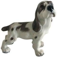 Lyngby Porcelain Figurine Cocker Spaniel Dog #72