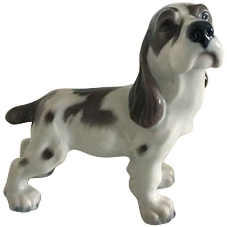Lyngby Porcelain Figurine Cocker Spaniel Dog #72