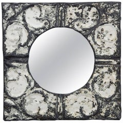 Industrial Square Tin Ceiling Tile Mirror