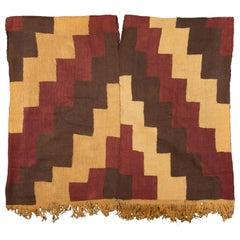 Pre-Columbian Nazca Stepped Textile Poncho, Nazca Peru, 200-400 AD