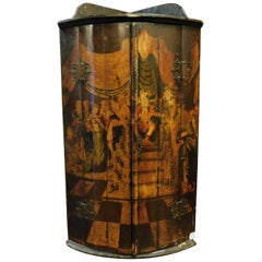 Antique Lacquered Corner Pantry Cabin