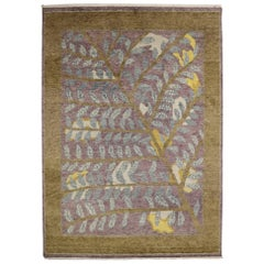 New Contemporary Moroccan Style Area Rug with Postmodern Biophilic Design