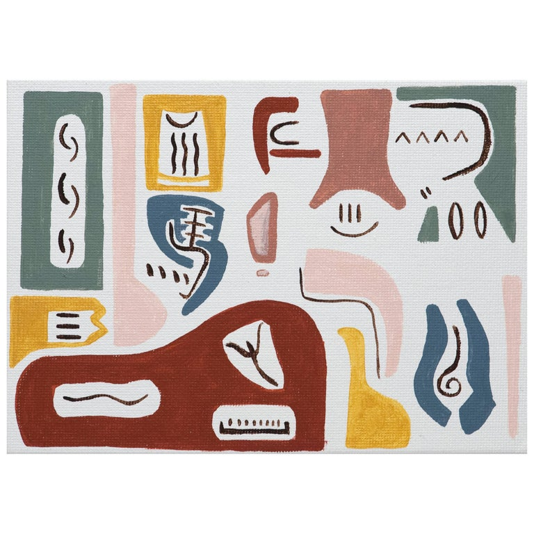 Elizabeth Freire Modern Abstract Meeting of Forms Painting