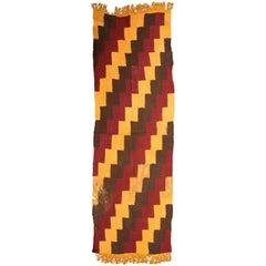 Pre-Columbian Nazca Textile – Stepped Zig-Zag Design, Nazca Peru 200-400 AD