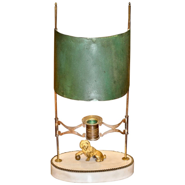 Period Neoclassical Swedish Gustavian Bouillotte or Candle Lamp For Sale