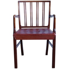 Ole Wanscher Armchair with Original Leather