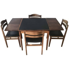 Poul Hundevad Game Table with Matching Chairs