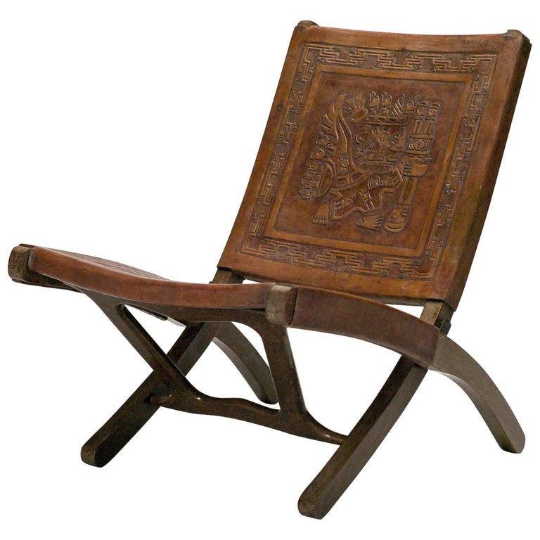 Ecuadorian Folding Chair by Angel Pazmino for Muebles De Estilo