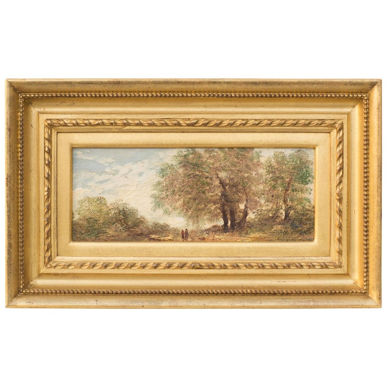 Under the Greenwood Tree, Original Oil on Panel Painting