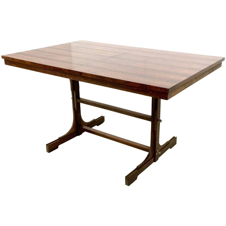 Mahogany Extendible Dining Table, Italy, 1960s For Sale