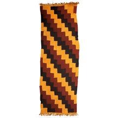 Pre-Columbian Nazca Textile – Stepped Zig-Zag Design, Nazca Peru, 200-400 AD