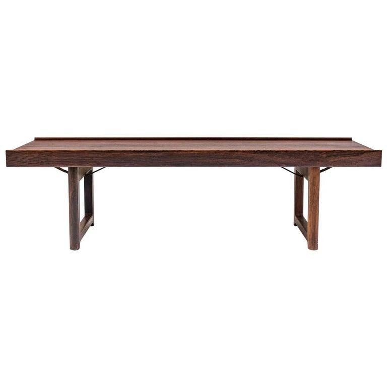 Scandinavian 'Krobo' Bench in Rosewood by Torbjørn Afdal for Mellemstrands For Sale