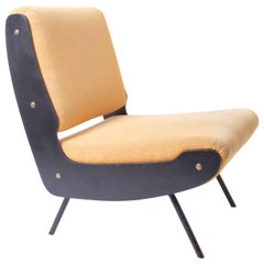 Gianfranco Frattini Model 836 Lounge Chair Midcentury Cassina Meda Bergere