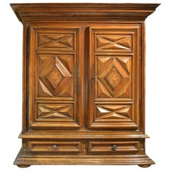 Walnut Armoire with Inlay