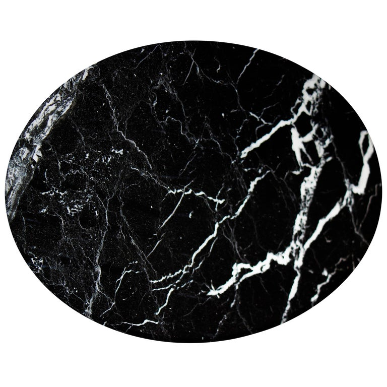 Round Black Marble Cheese Plate