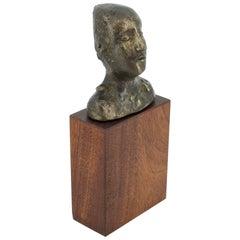 Susana Espinosa Cabeza Mujer Bronze Sculpture Argentina Puerto Rico Artist Rican