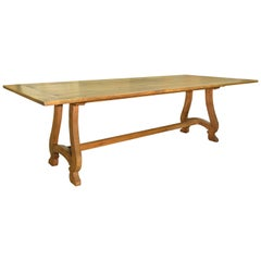 French Dining Table in Antique Pine