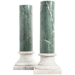 Pair of Marble Columns, 20th Century