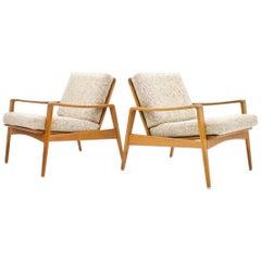 Danish Teak Wood Lounge Chairs by Arne Wahl Iversen