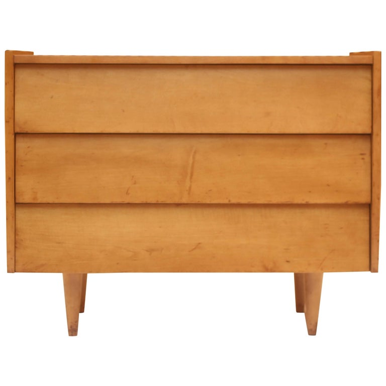 Early Florence Knoll Commode with Louvered Drawer Fronts