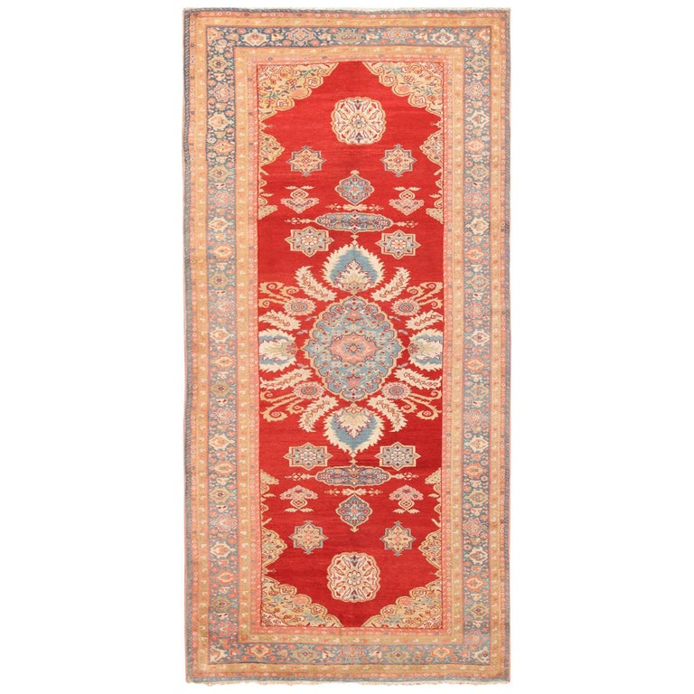Antique Room Size Sultanabad Persian Rug For Sale