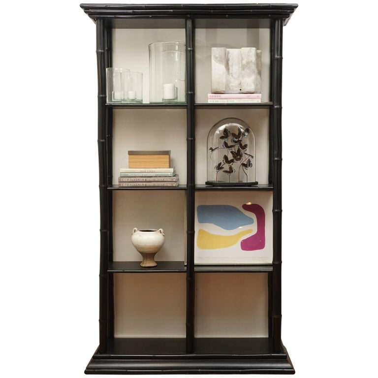 Bamboo Lacquered Bookcase