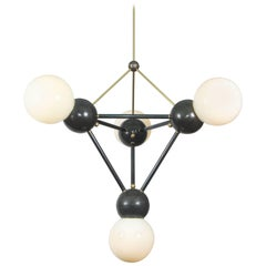 Giant Lina 04-Pyramid, Extra Large Geometric Led Chandelier, Bronze Finish