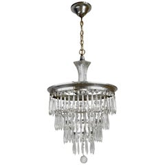 Silver Plated Wedding Cake Chandelier