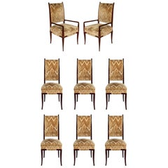 Tommi Parzinger Dining Chairs Set of Eight