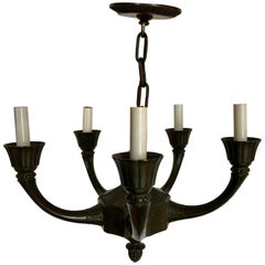 Just Andersen Five Light Danish Art Deco Chandelier