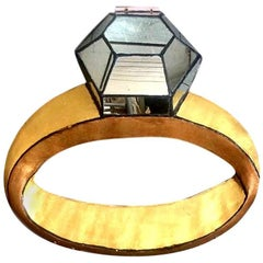 Giant Fiberglass and Mirror Diamond Ring