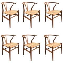 Hans J. Wegner CH-24 Wishbone Chairs, Set of Six