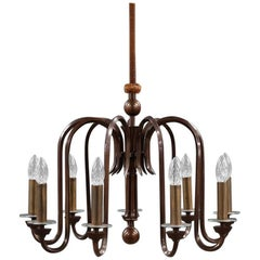 Danish Bronze Chandelier