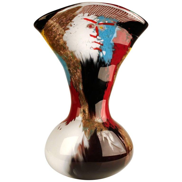 1950s Dino Martens Geltrude Vase for Aureliano Toso For Sale