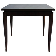 Fine French Art Deco Ebony Macassar Game Table