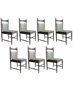 "Set of Seven High Back ""Cantu"" Chairs"
