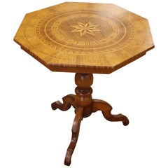 Italian 19th Century Octagonal Occasional Table with Inlaid Design