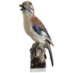 Lyngby Porcelain Figurine Eurasian Jay #83