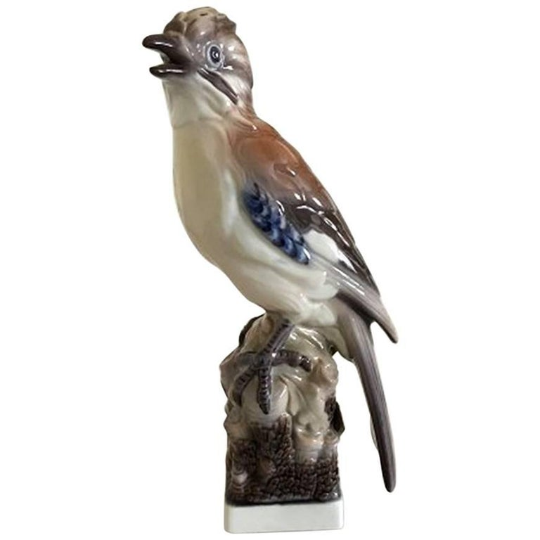 Lyngby Porcelain Figurine Eurasian Jay #83 For Sale