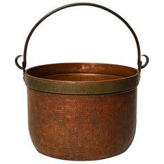 Rosy Copper Log Bucket