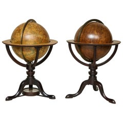 Assembled Pair of Georgian Celestial and Terrestrial Globes